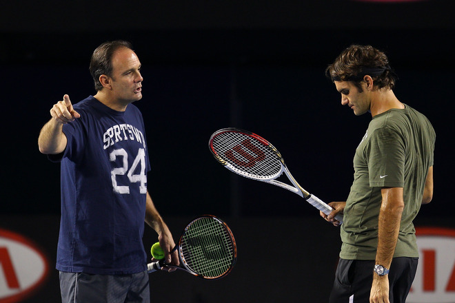 Federer confined to practice courts after Beck withdrawal