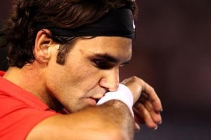 Federer deep in thought