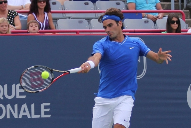 Photo of Federer def. Pospisil 7-5 6-3 in Rd 2 of the Rogers Cup