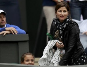 Mirka at Wimbledon