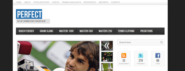 Photo of peRFect Tennis Site Update