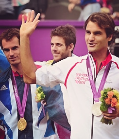 Fed with his Silver Medal
