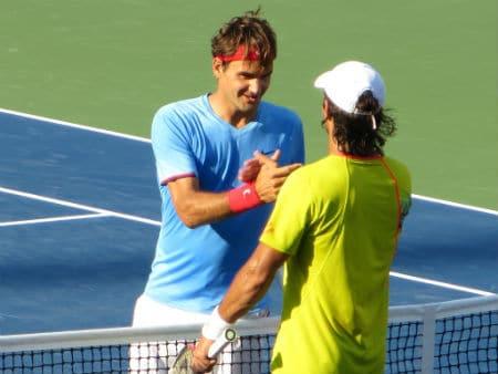 Verdasco congratulates Federer