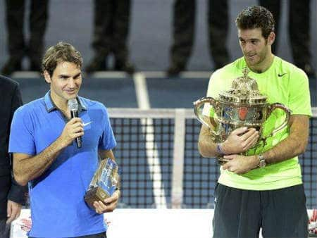 Fed and Del Po at Trophy Presentation