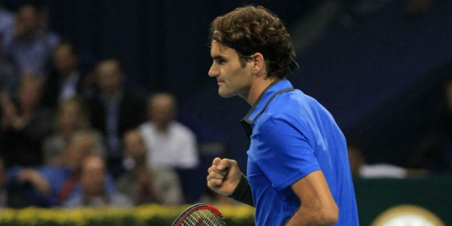 Federer Advances to SF in Basel