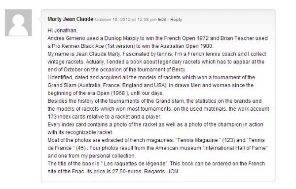 JCM Comment