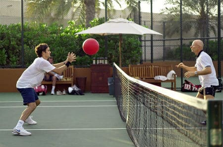 Federer Training in Dubai