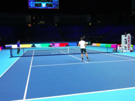 Federer World Tour Finals 2012 Practise