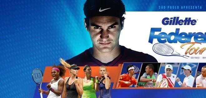 Roger Federer Gilette Tour South America