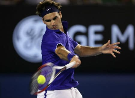 Federer Forehand Contact Point