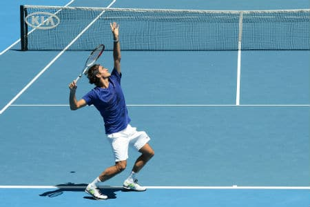 Federer Practising ahead of the Australian Open