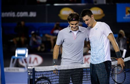 Federer & Tomic at the Net