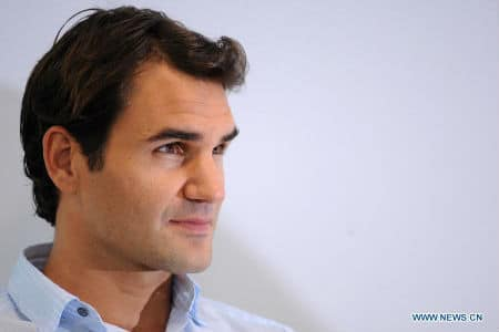 Federer with Credit Suisse in Singapore