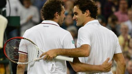 Federer & Benneteau at Wimbledon