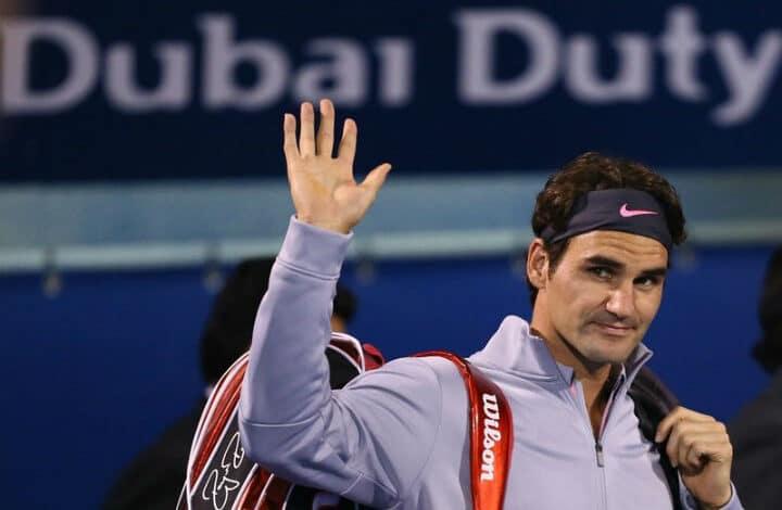 Federer Defeats Jaziri in Dubai