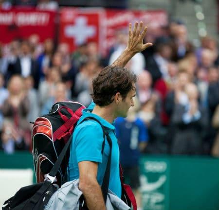 Federer Exits the Ahoy Arena
