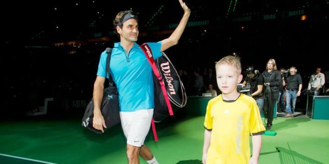 Federer def Zemlja in Rotterdam