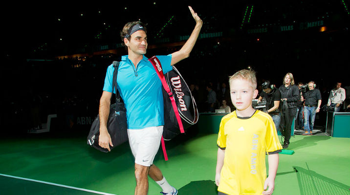 Photo of Federer Routines Zemlja 6-3 6-1 in Rotterdam