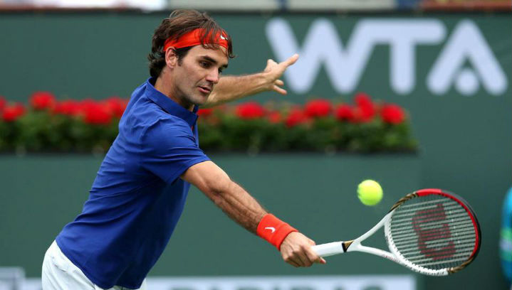 Federer Dominates Istomin Indian Wells 2013