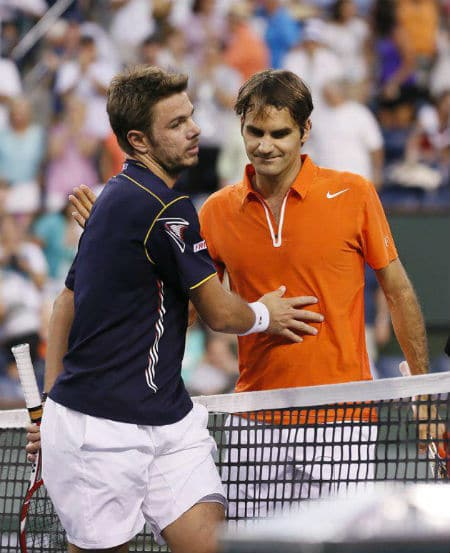 Federer & Wawrinka Indian Wells 2013