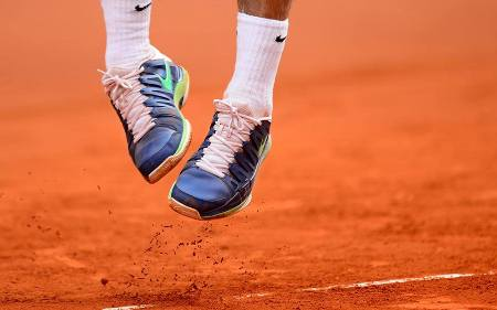 Federer Dancing Shoes Rome 2013