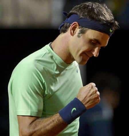 Federer Fist Pump Rome 2013