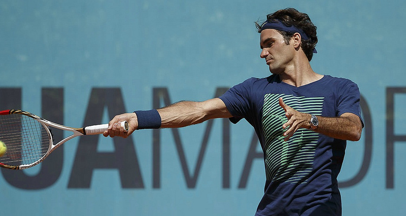 Federer Mutua Madrid Open 2013