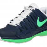 Federer Nike Zoom Vapor 9 Tour Blue Green French Open