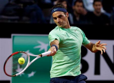Federer Starace Rome 2013
