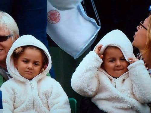 Federer Twins French Open 2013