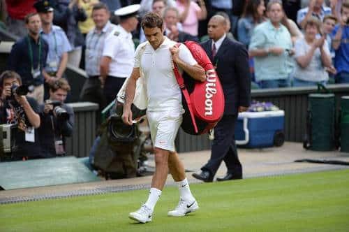 Federer Exits Centre Court
