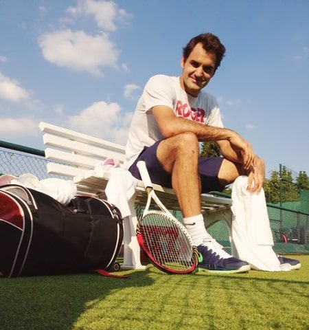 Federer Halle Practice