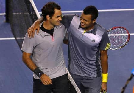 Federer & Tsonga Australia 2013