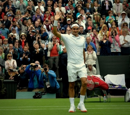 Federer Wimbledon Day One 2013