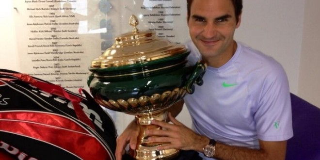 Federer Wins 6th Halle Title