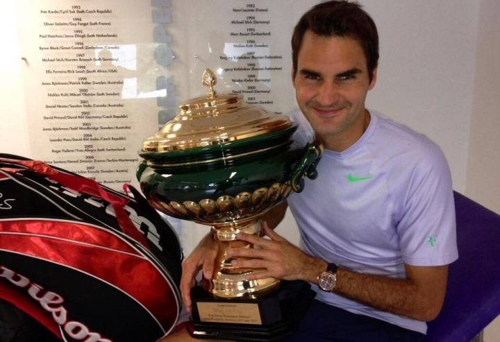 Federer Wins 6th Halle Title