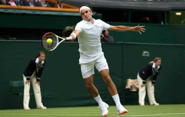 Federer defeats Hanescu Wimbledon 2013