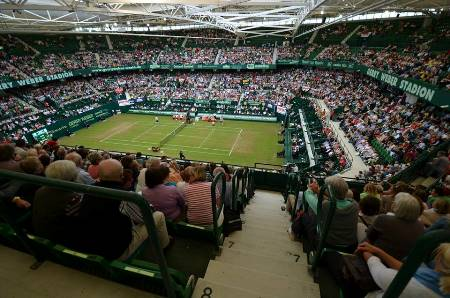 Federer vs Stebe in Halle