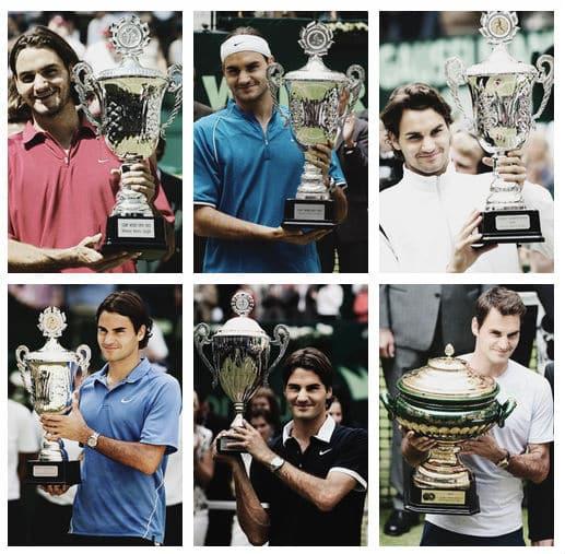 Federer's Halle Trophies
