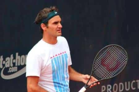 Federer Practise Hamburg 2013