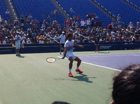 Federer US Open 2013 Practise