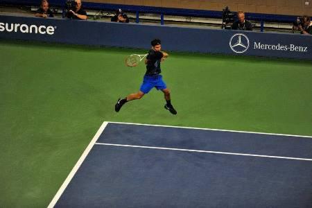 Federer Big Forehand US Open Mannarino