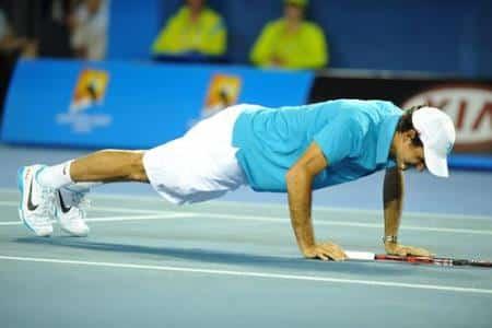 Federer Press Ups