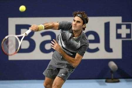 Federer 2nd Serve Basel 2013