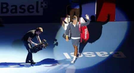 Federer Basel 2013 Entrace