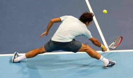 Federer Defence in Basel