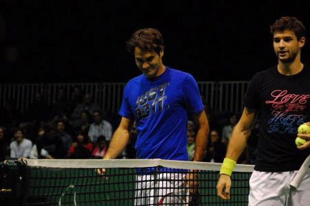 Federer Dimitrov in Rotterdam
