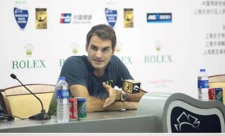Federer Press Conference Shanghai