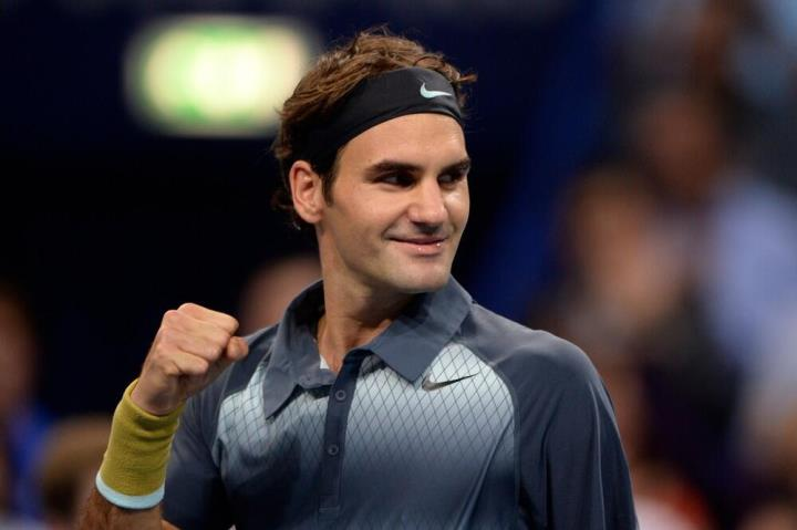 Federer defeats Dimitrov Basel 2013