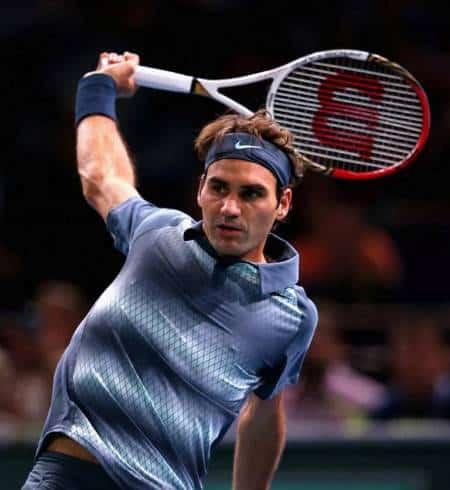 Federer Backhand vs Del Potro Bercy 2013